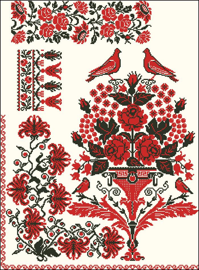 Узоры и орнаменты в русской вышивке 936