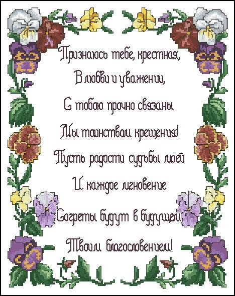 Поздравления с днем рождения крестнице на украинском