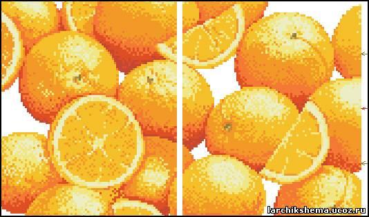 Схема вышивки апельсина