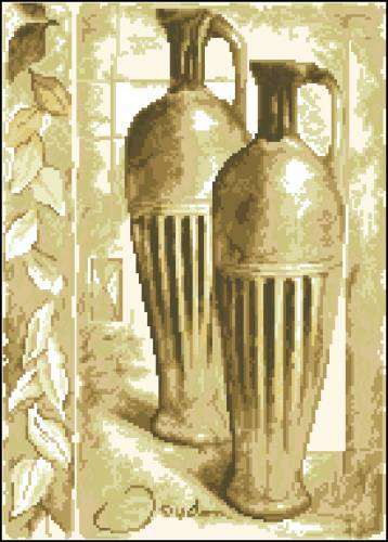 Схема вышивки Греческий кувшин для вина